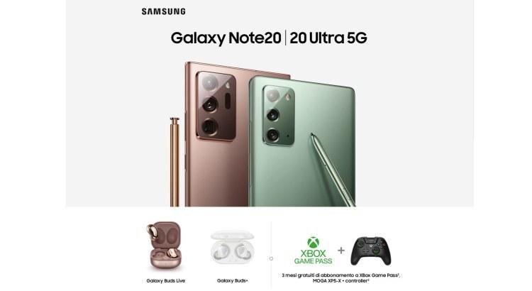 Prenota Galaxy Note20 e 20 Ultra 5G premio certo a scelta