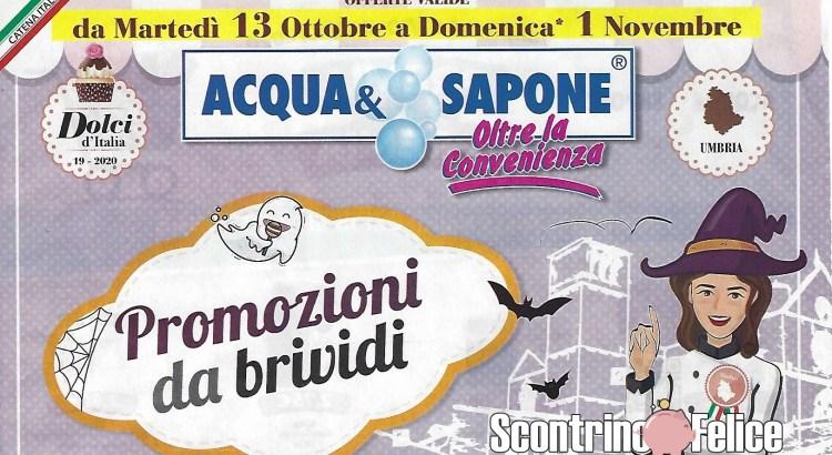Nuovo Volantino Acqua e Sapone valido dal 13-10 al 1-11 2020