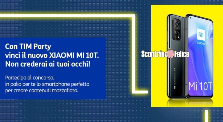 Con TIM Party vinci 10 smartphone Xiaomi Mi 10T 5G