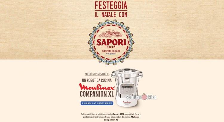 concorso gratuito Festeggia il Natale con Sapori vinci gratis moulinex