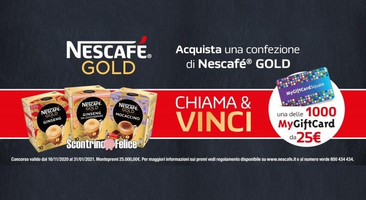 Concorso Nescafé GOLD vinci una delle MyGiftCard da 25€