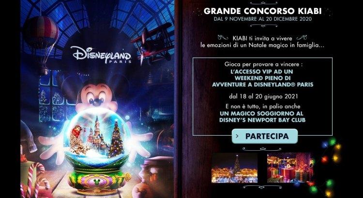 Grande concorso Kiabi vinci gratis viaggi a Disneyland Paris