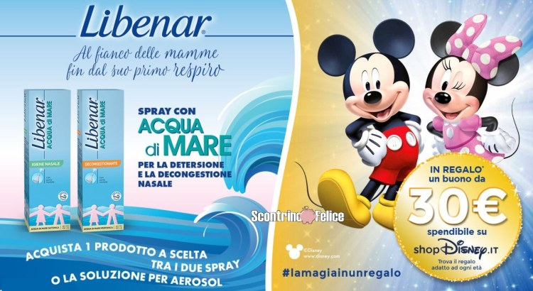 Vinci con Libenar ricevi un buono Disney Shop da 30€ premio certo