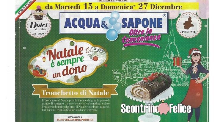 Volantino Acqua e Sapone valido dal 15-12 al 27-12 2020