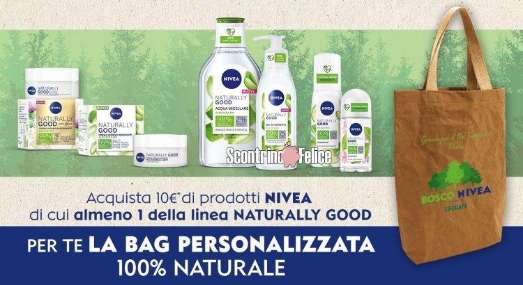 Nivea Mese Verde ricevi come premio certo borsa personalizzata naturale