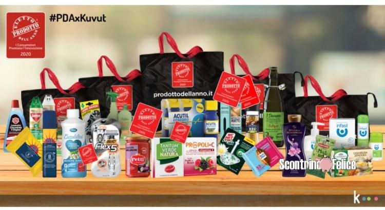 Vinci gratis 20 kit di Prodotti dell'Anno con Kuvut #PDAxKuvut