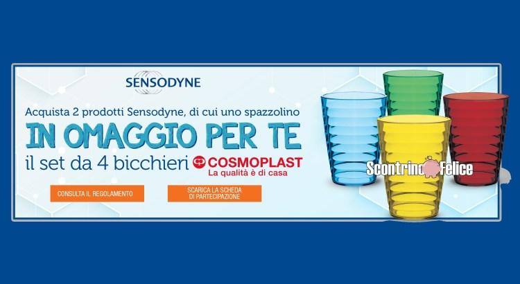Sensodyne ti regala 4 bicchieri Onda Cosmoplast come premio certo