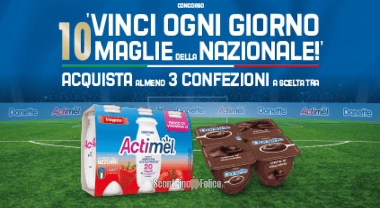 Concorso Danette Actimel vinci maglie della nazionale italiana di calcio