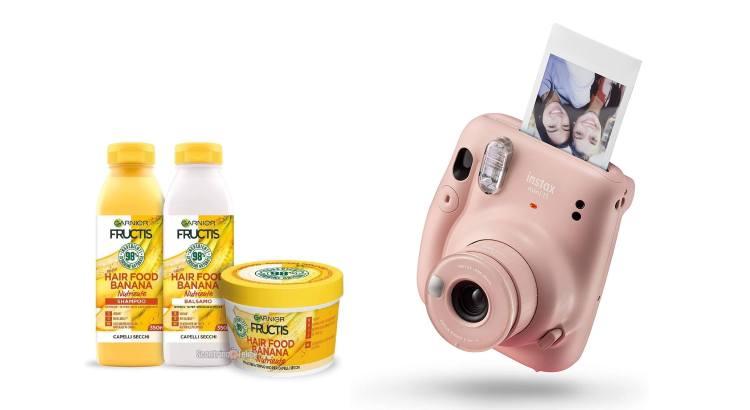 Concorso Garnier Hair Food in palio 28 macchine fotografiche Fuji Instax Mini 11
