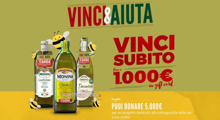 Concorso Monini Vinci e Aiuta vinci gift card Idea Shopping