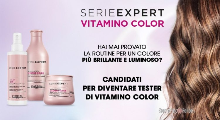 Diventa tester shampoo, maschera e spray 10 in 1 multiuso di Vitamino Color di L'Oréal Professionnel Paris