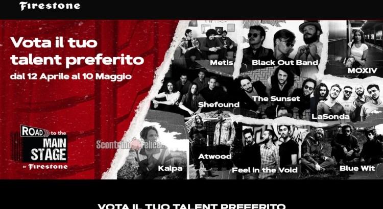 concorso vota Road to the Main Stage Firestone