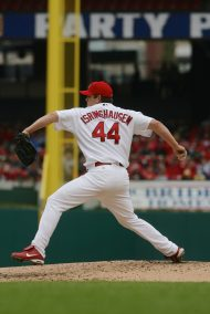 Isringhausen pitches against the Washington Nationals