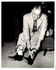 Don Barnes with his Browns Logoed Cowboy Boots