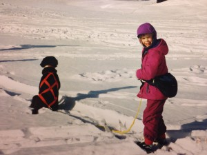 Growing up in Alaska means skijoring on the regular.