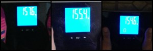 I started at 158 but didn't think to take a picture.