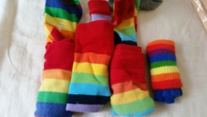 They may buy more rainbow socks because they forgot they already had rainbow socks.