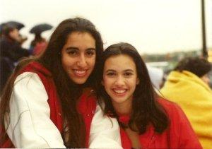 Me with my dear friend Bernadette, 20 years ago.