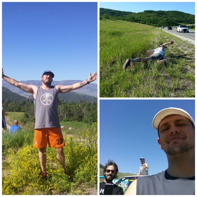 The hills are alive!  With red ants and selfies within selfies within selfies...
