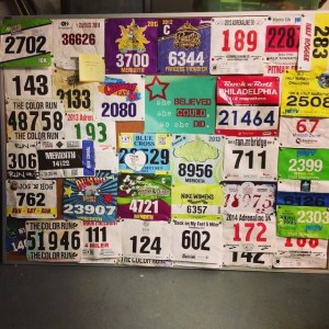 Meri's bib board (a few years back)