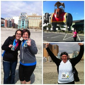 2012 - Cam's first ever half marathon (I was a seasoned pro as it was my second) and Bec ran the 7k.