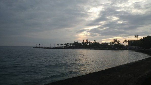 At the start in Hilo. It was still dark when our team headed out!