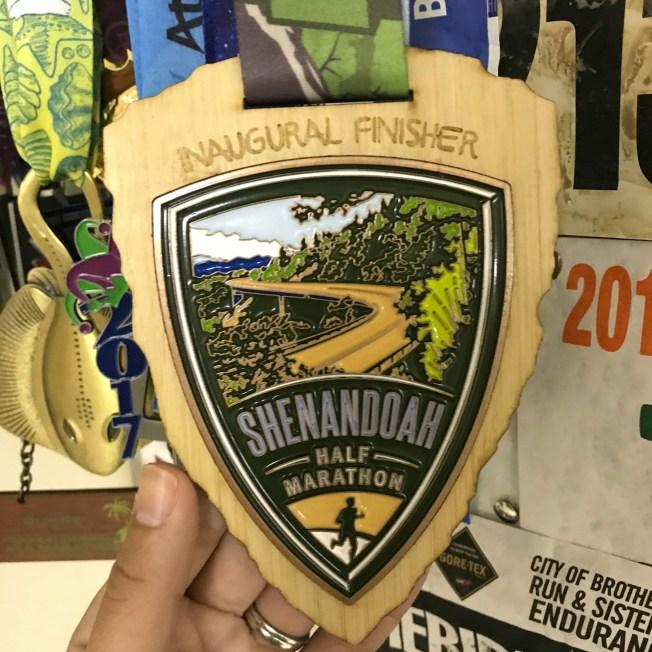 Inaugural Shenandoah Half medal - Vacation Races #Shenandoahhalf