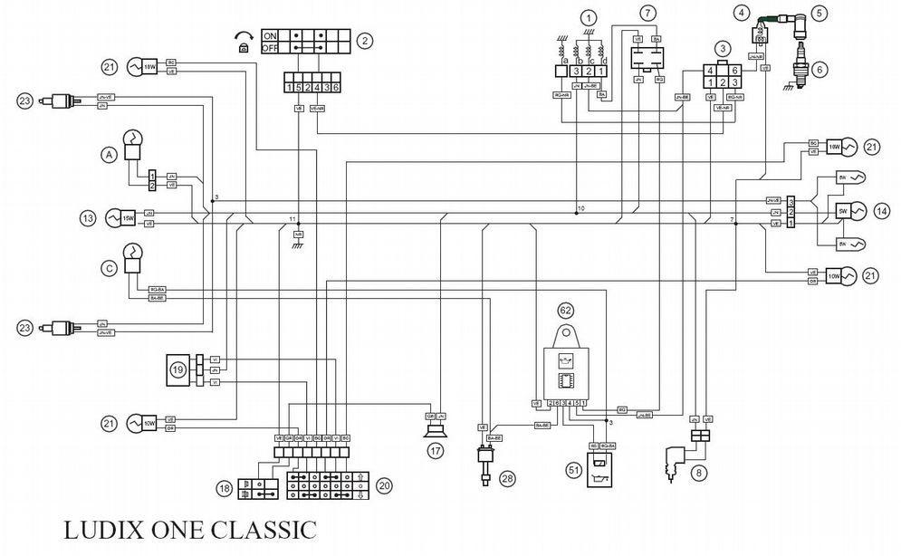 yamaha aerox wiring diagram 4age ecu schémas électriques pour scooters peugeot 50cc - scootcustom