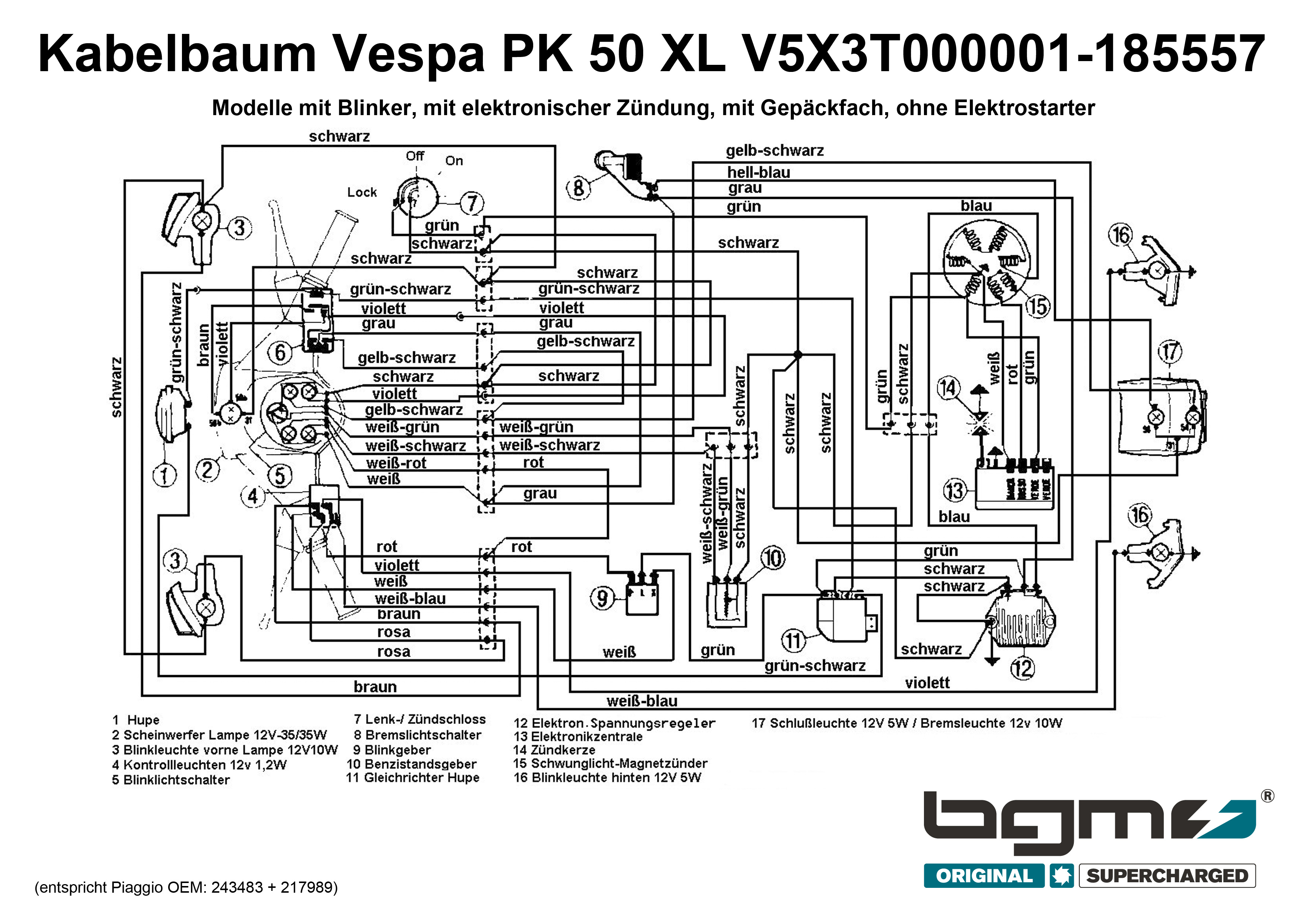 Schaltplan Vespa V50n