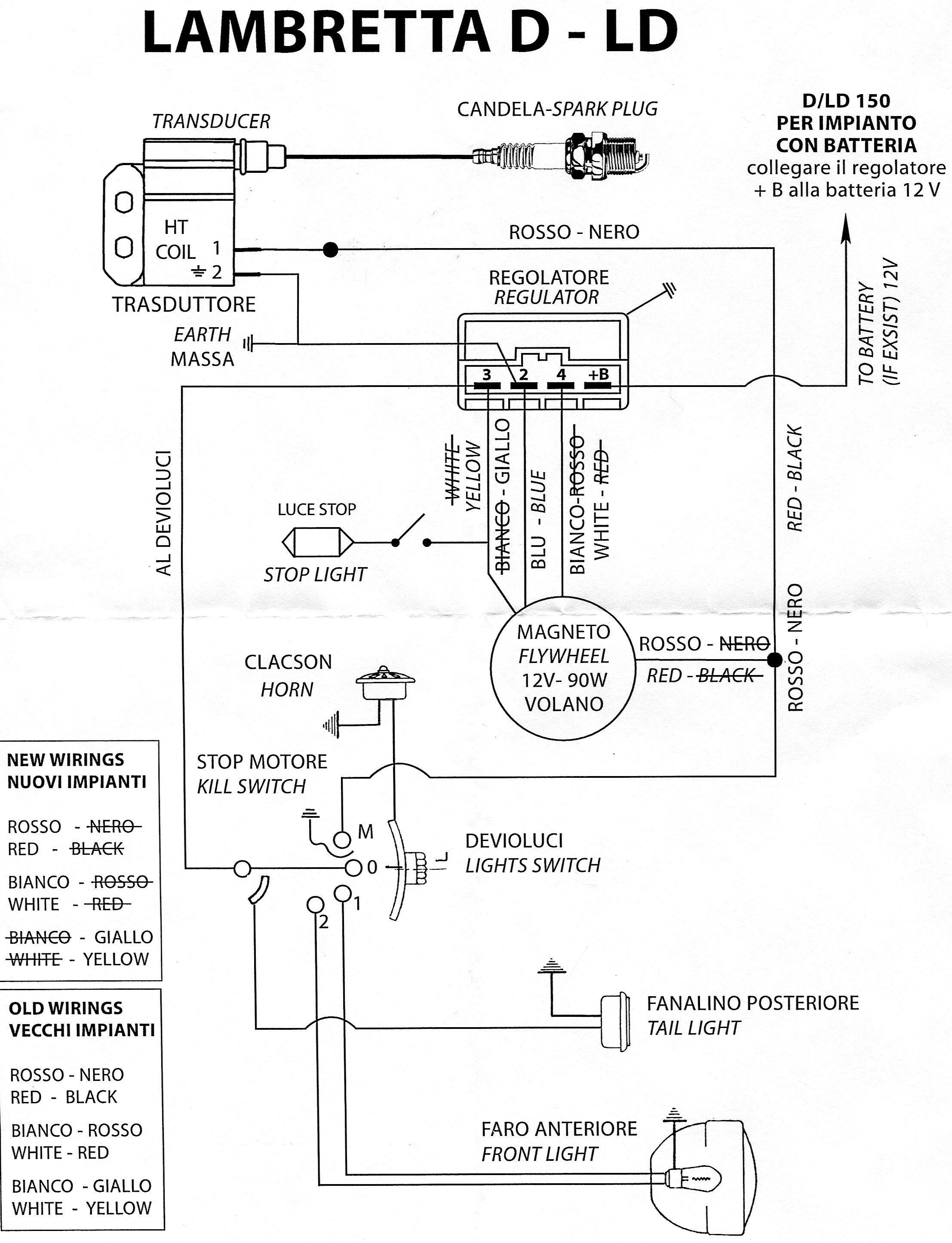 lambretta wiring diagram with indicators spa circuit board zündung evergreen variotronic ld d 150