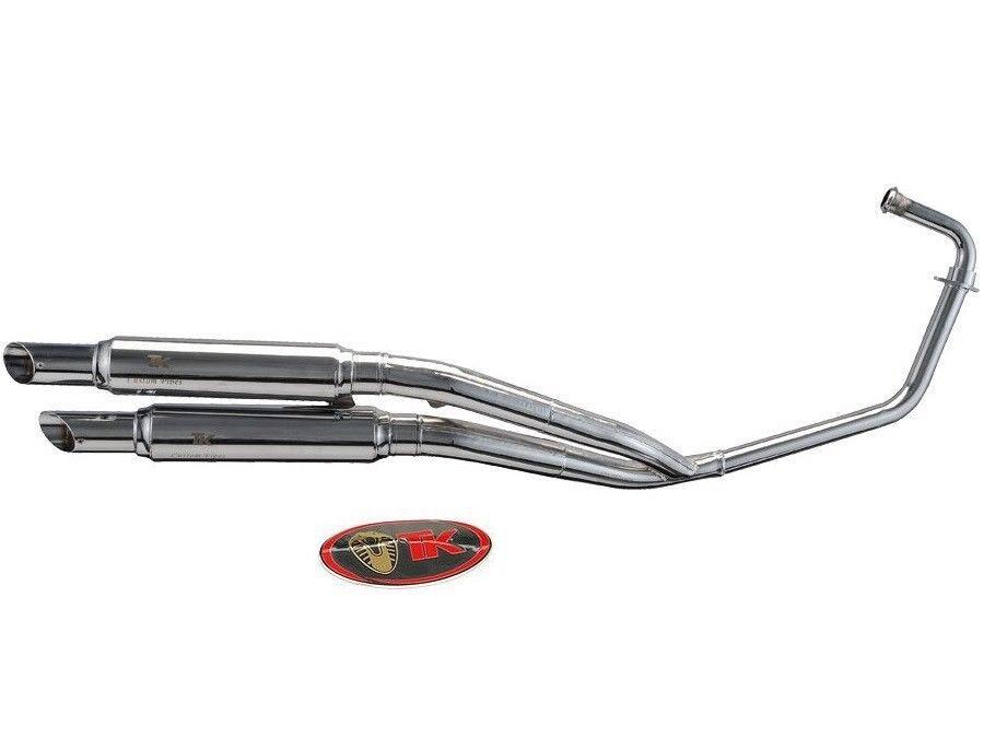 Turbo Kit Custom-Style Chrom Auspuff Daelim Daystar VL 125