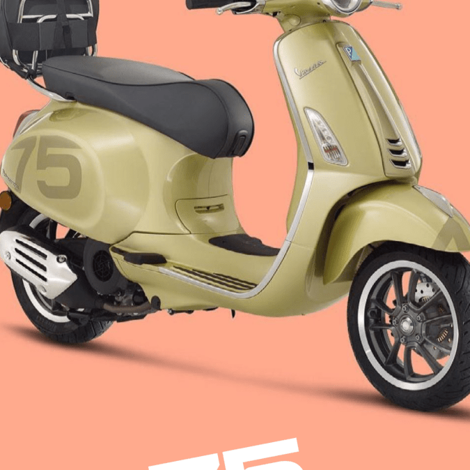 Vespa Celebrates 75 Years with a new limited release