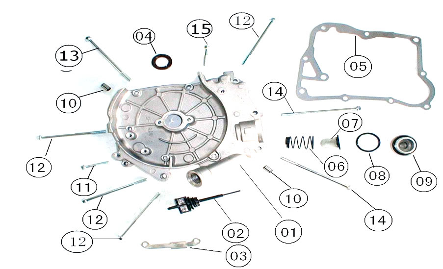 Engine Transmission Diagram Gy6 4 Stroke 150 Cc, Engine