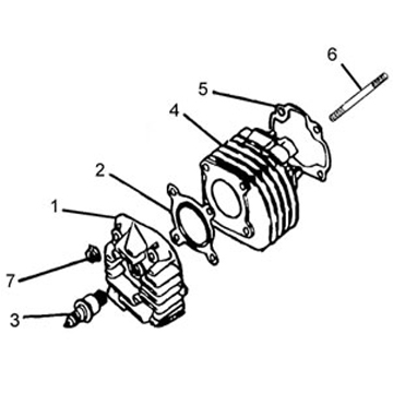 Cylinder for 50cc 2-Stroke Minarelli A/C Scooters