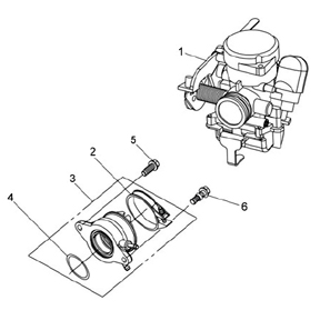 Carburetor for 200cc SYM RV200