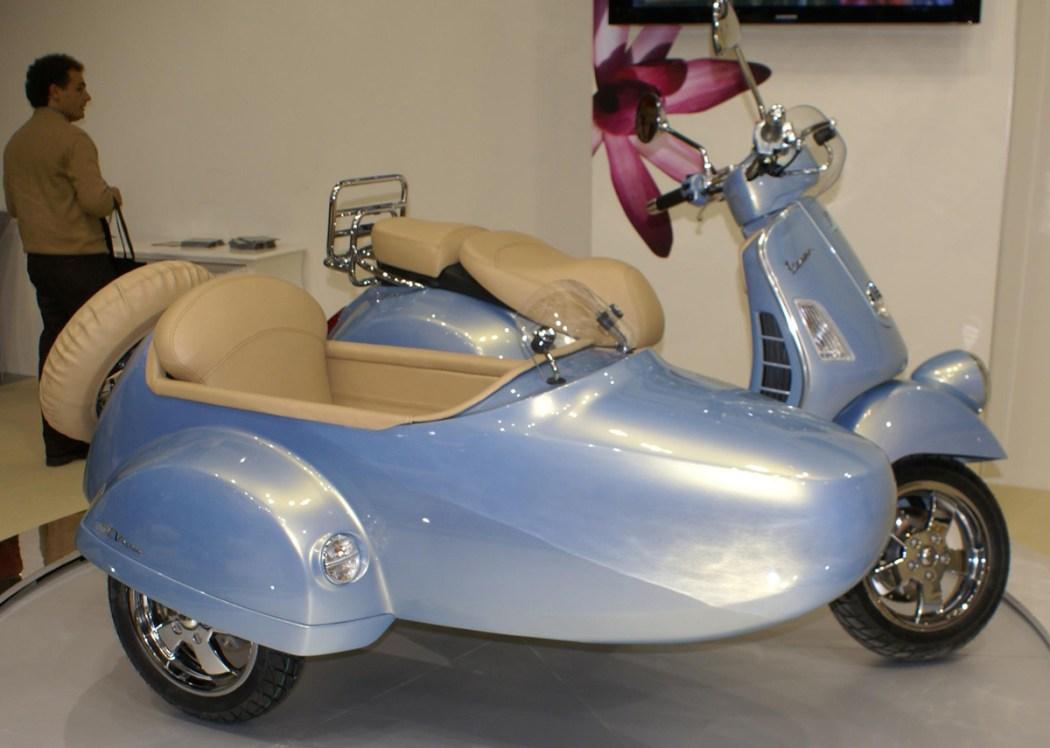 sidecar mount for modern vespas scooterfile. Black Bedroom Furniture Sets. Home Design Ideas