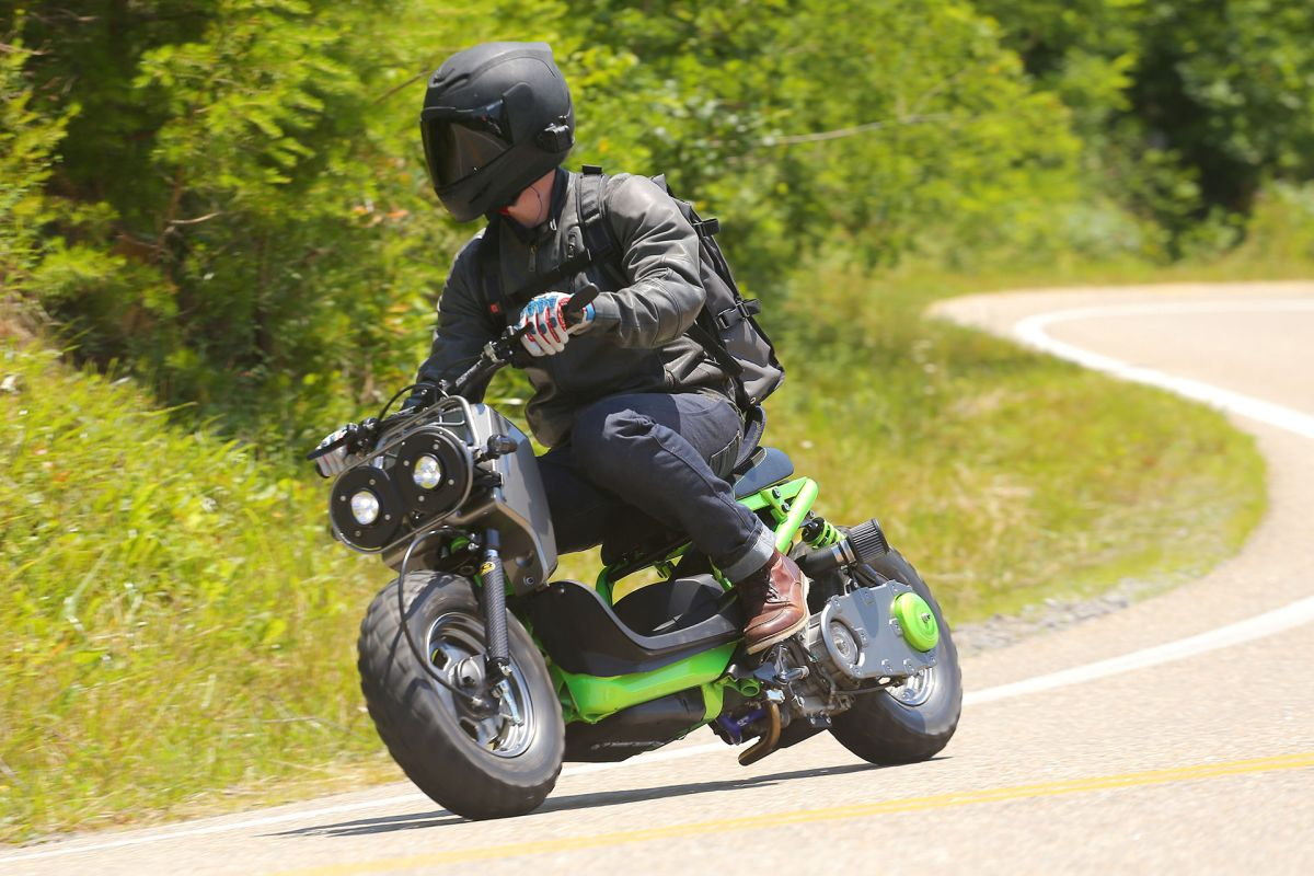 Stand Up Electric Scooter >> A Custom Ruckus on the Tail of the Dragon | ScooterFile