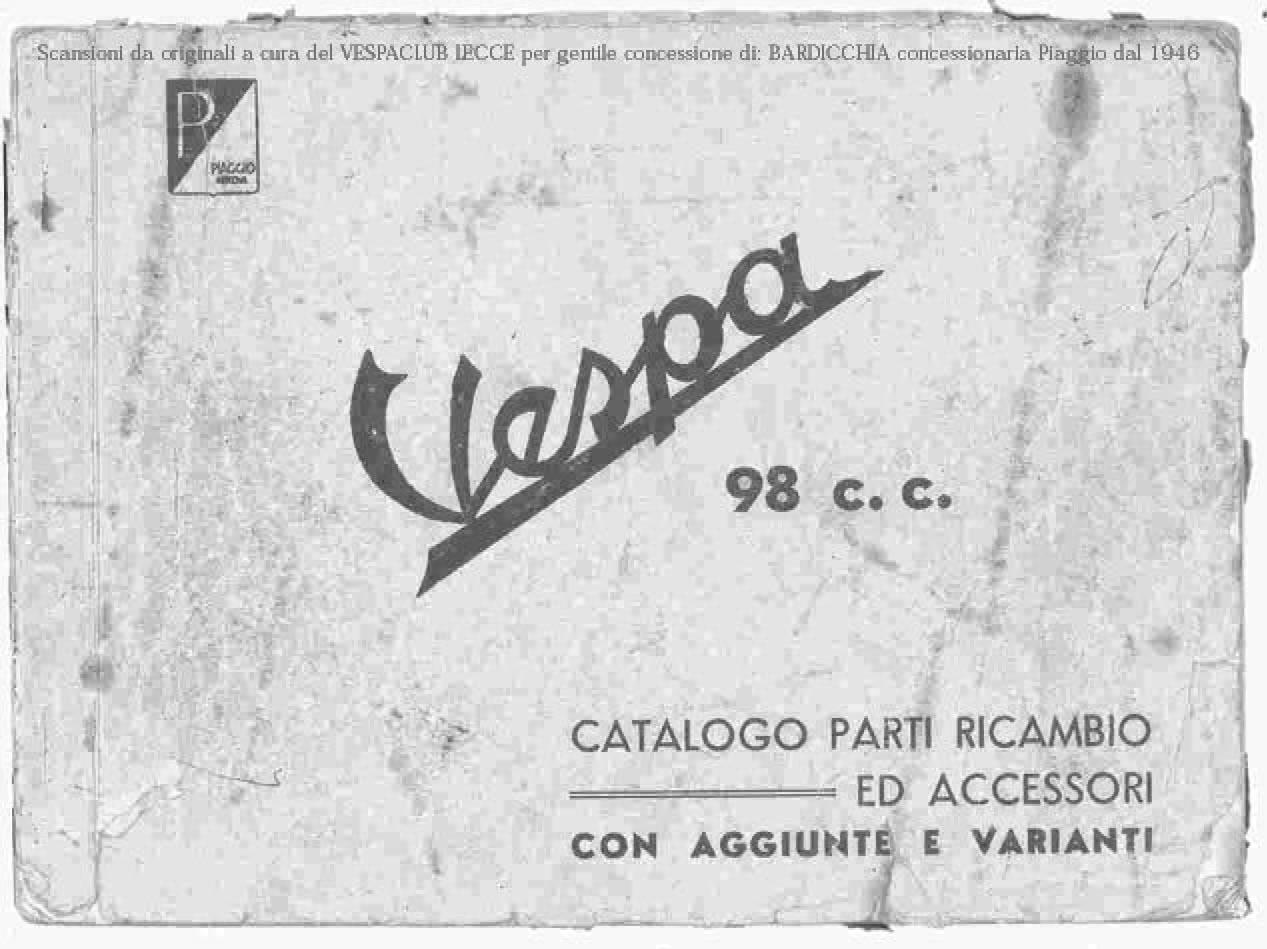 Vespa 98 Parts Book