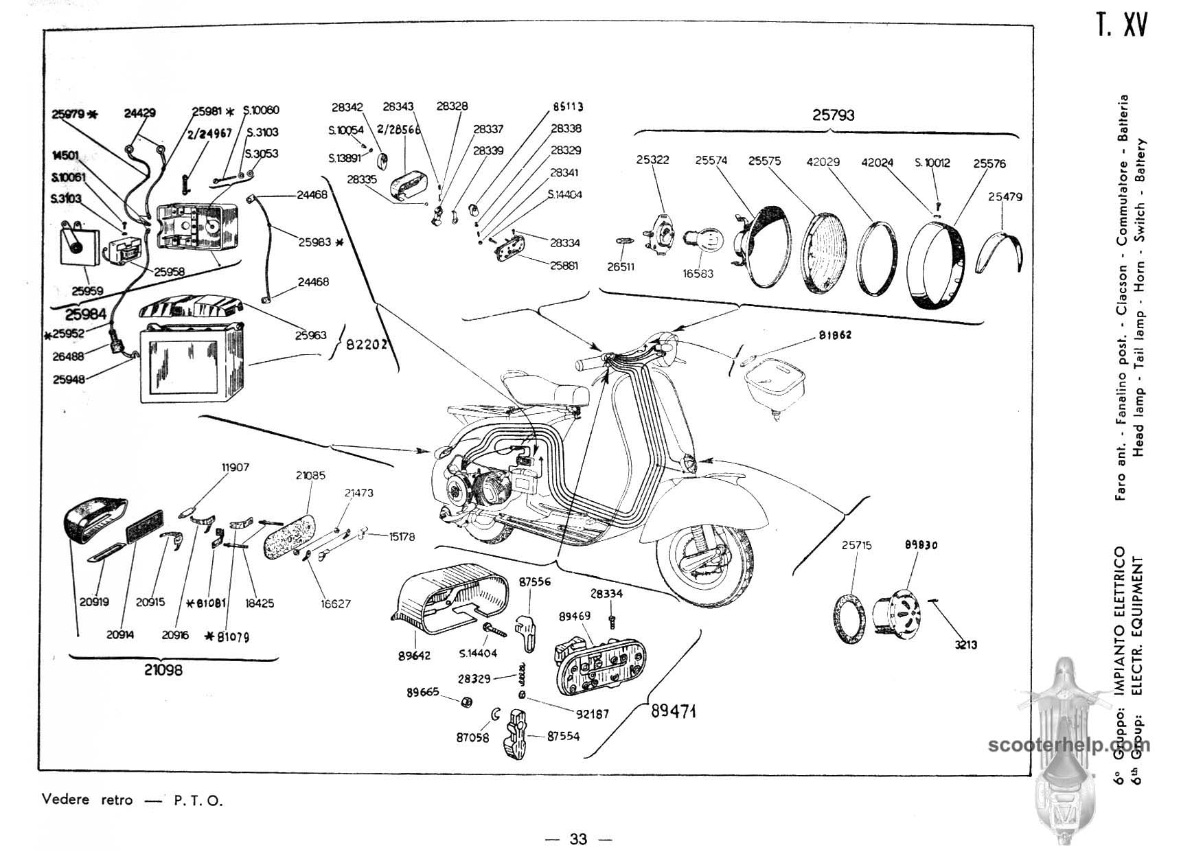 Vespa 150 (VB1T) Parts Manual