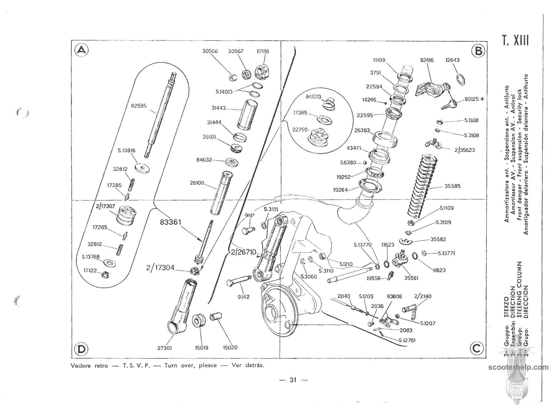 Modern Vespa : steering bearings and races vbb
