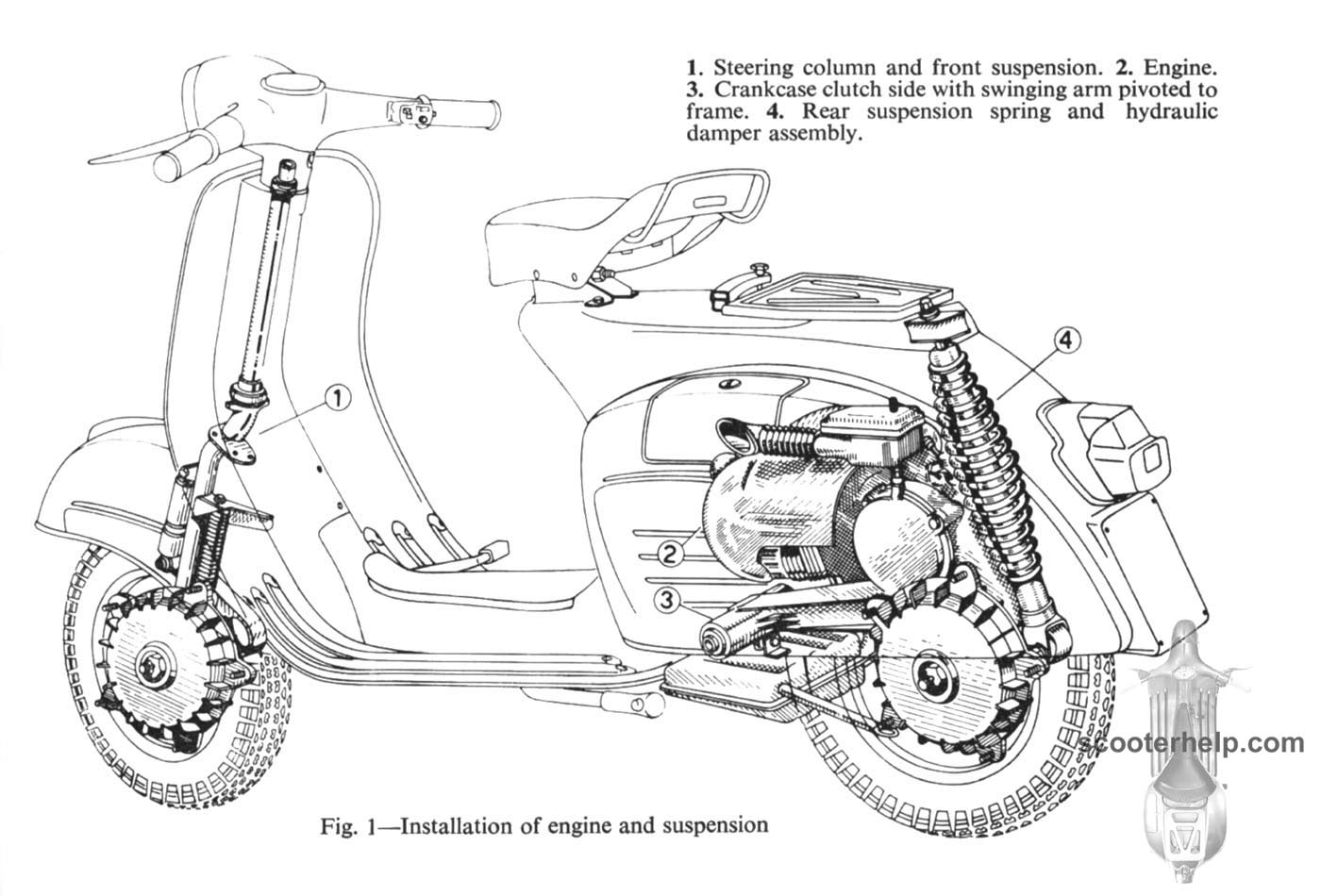 50cc Scooter Diagram
