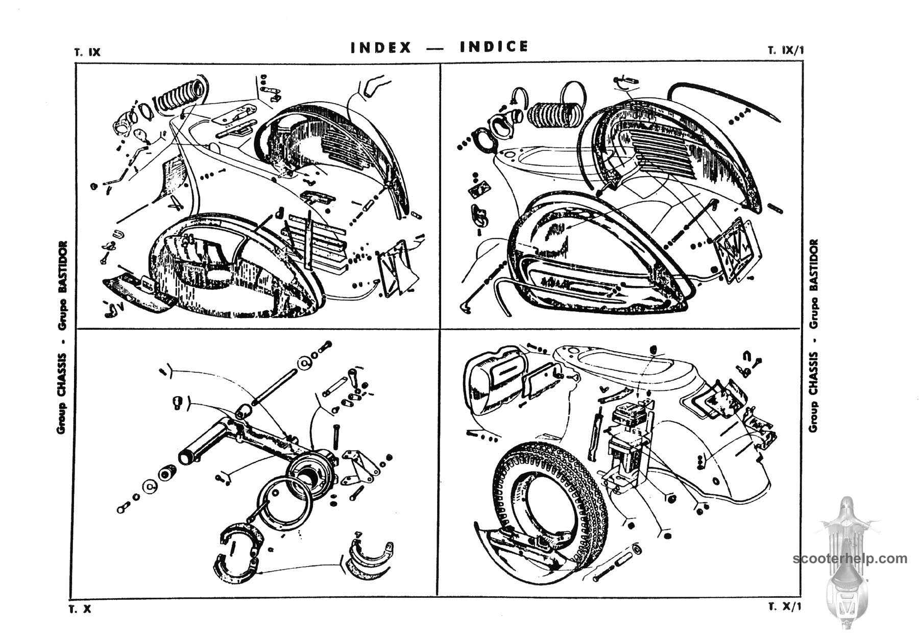 Vespa GS160 Parts Book