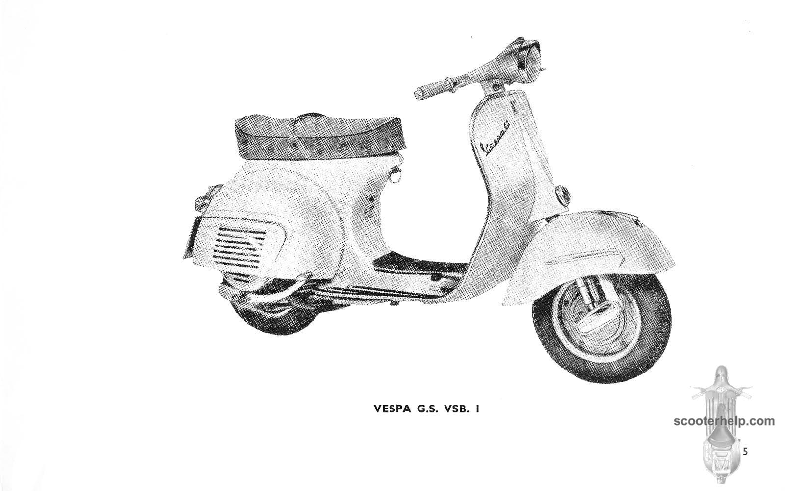 hight resolution of vespa vsb1t gs160 factory repair book