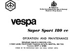 Vespa Super Sport 180 Owner's Manual