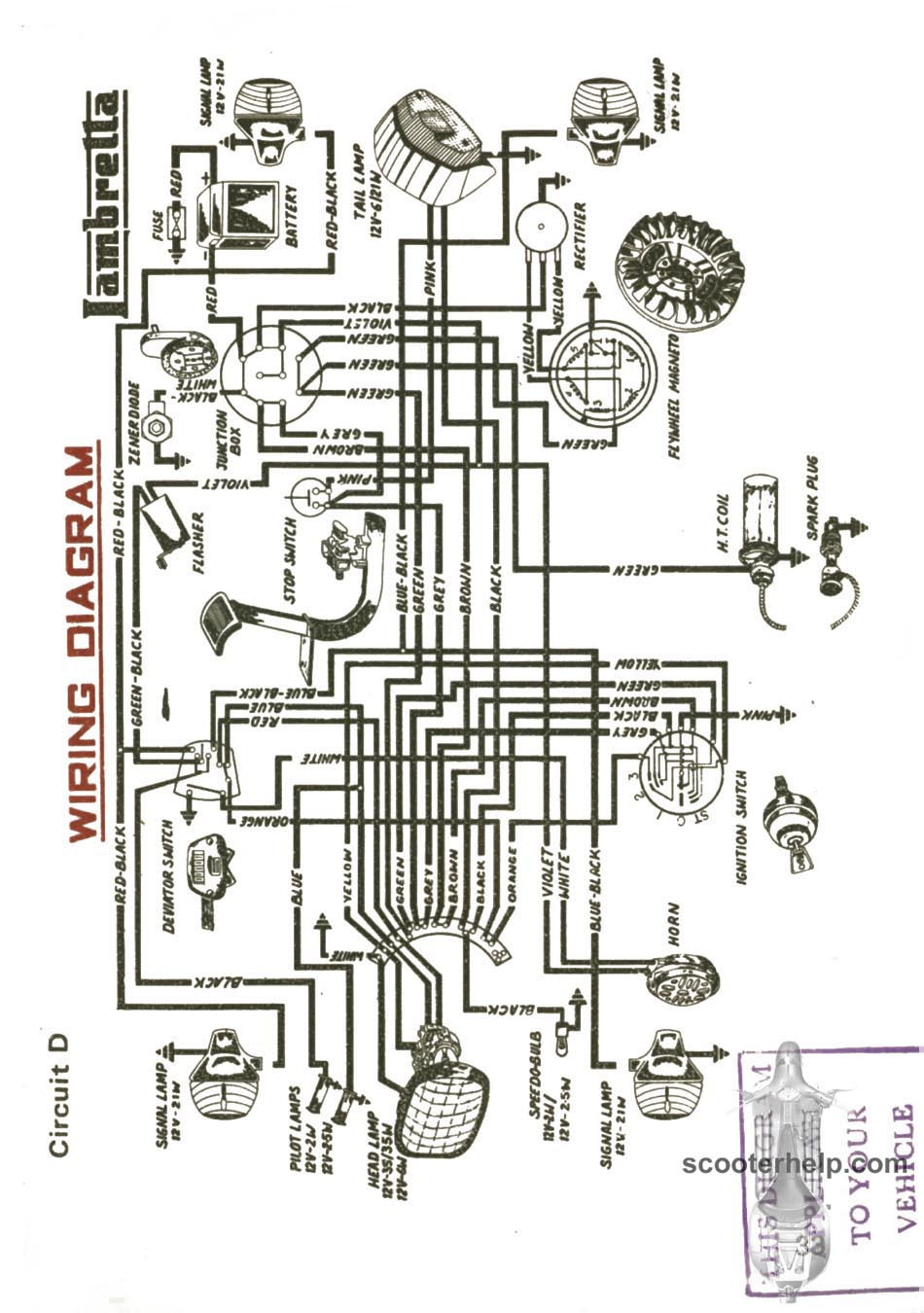 medium resolution of lambretta wiring diagram schema diagram database lambretta gp wiring diagram lambretta wiring diagram
