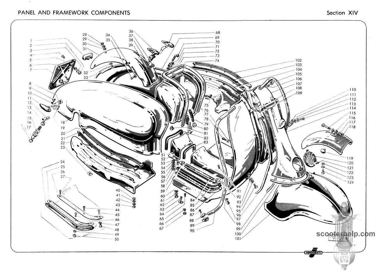 Lambretta Li125, Li150, TV175 Series II Parts Book