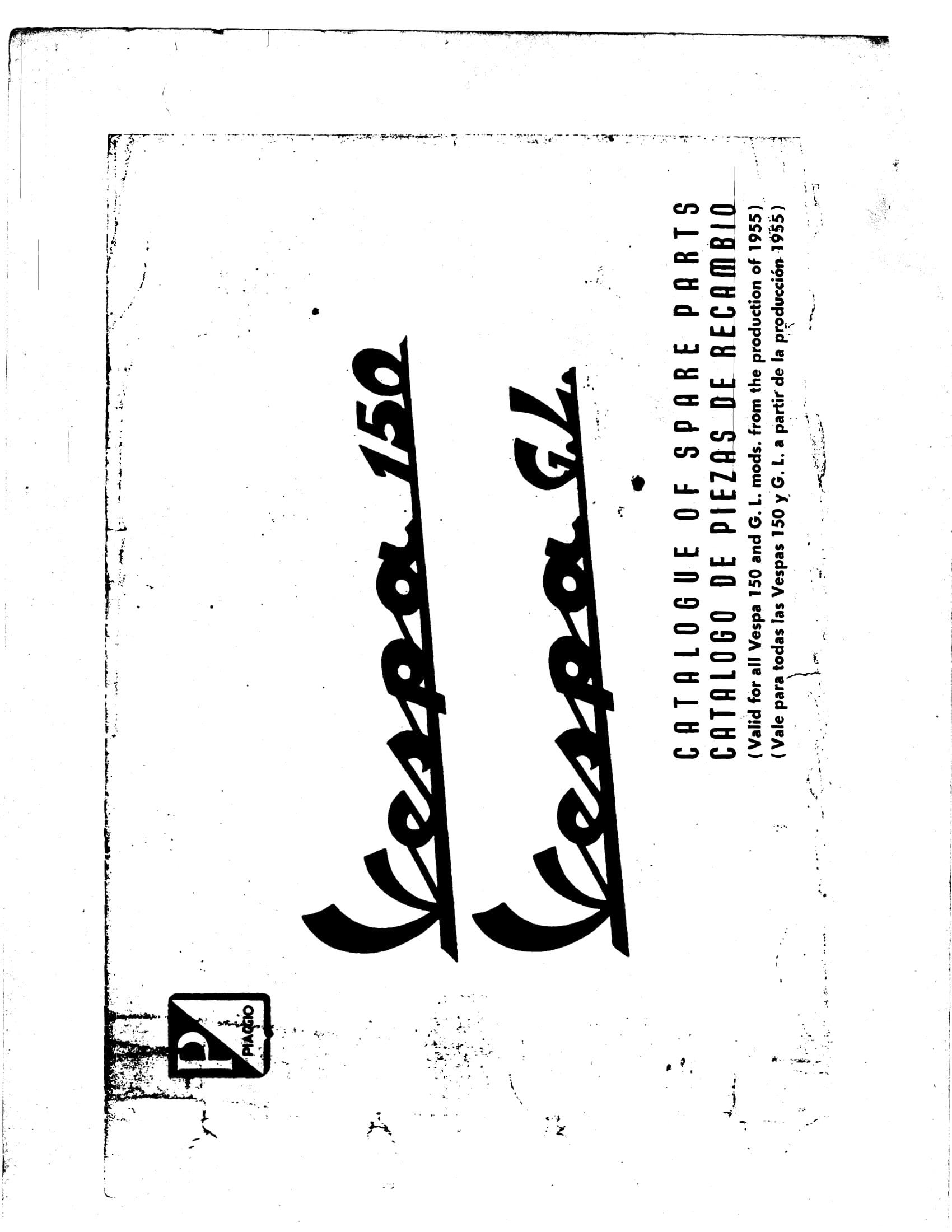 Vespa 150 and Vespa GL Parts Manual