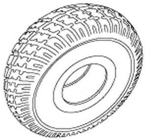 Jazzy Select GT Foam Filled Tire
