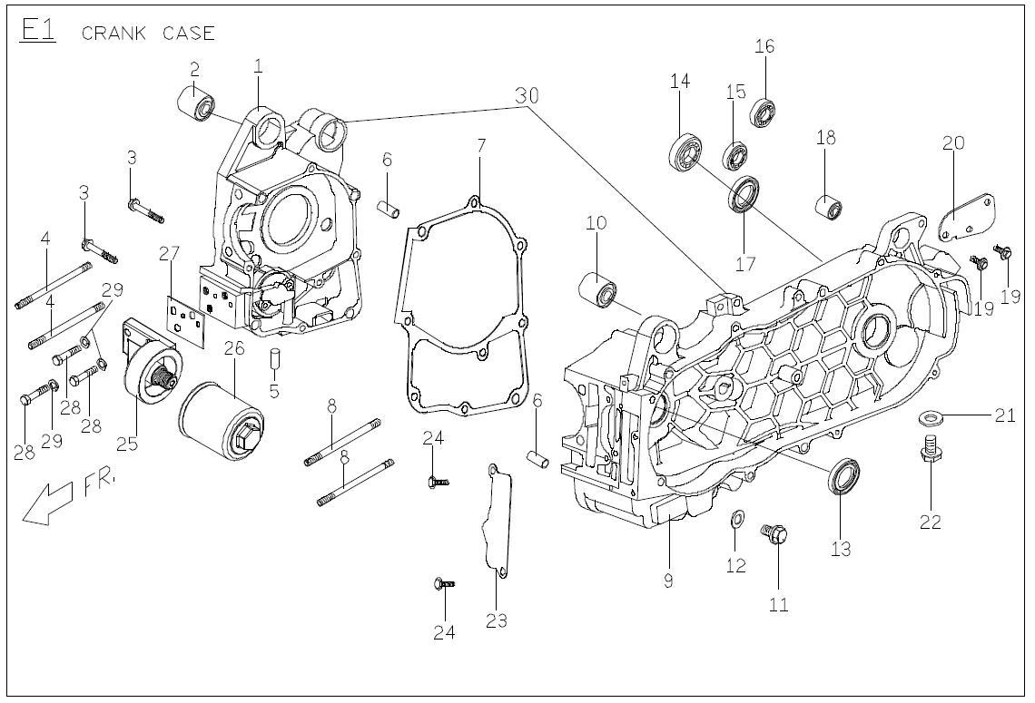 Buddy 125 Crankcase