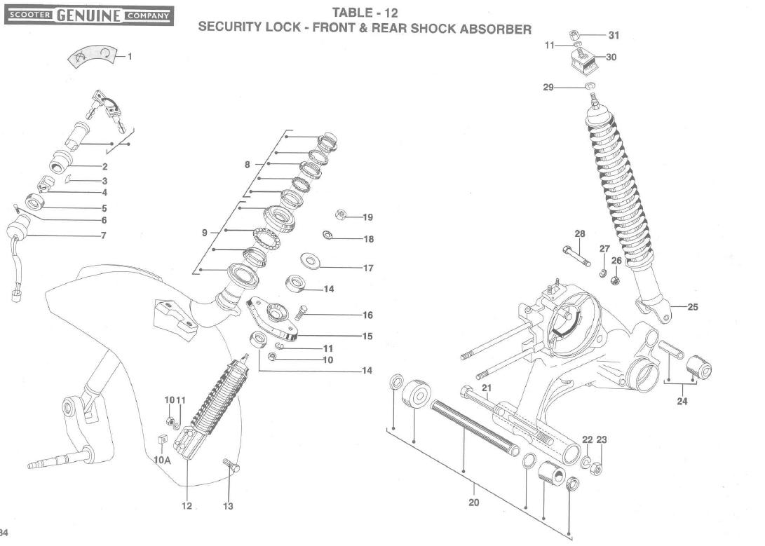 Stella Shocks, Stella Front and rear shock absorbers
